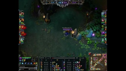 League of Legends - Same noob Veigar trying to kill Baron :d