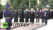 Belarus: Patriarch Kirill lays wreath at Minsk Victory Monument