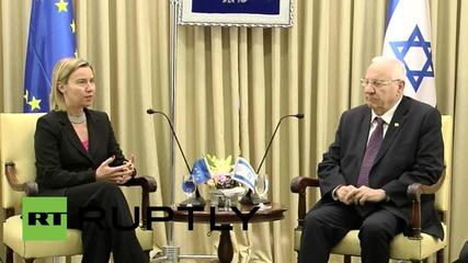 Israel: Mogherini thanks Israeli President Reuven for his