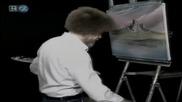 S15 Радостта на живописта с Bob Ross E09 - планинско пролетно езеро ღобучение в рисуване, живописღ