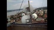 На покрива на една от най - високите сгради в Русе.
