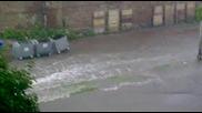 Наводнение в Пазарджик ! за около 20 мин какво се случва ..