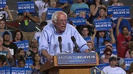 USA: Sanders repeats challenge to debate Trump