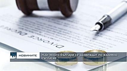 Най-много българи се развеждат по взаимно съгласие