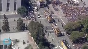 1 Million Crowd Downtown Oakland Celebrating Golden State's NBA Title