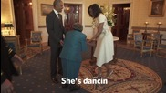 USA: 106-year-old lady dances as she meets the Obamas at the White House