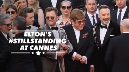 Elton John brings the star power to 'Rocketman' Cannes premiere