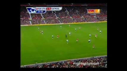 Manchester United 2 – 0 Liverpool goal D.berbatov 19.09.2010