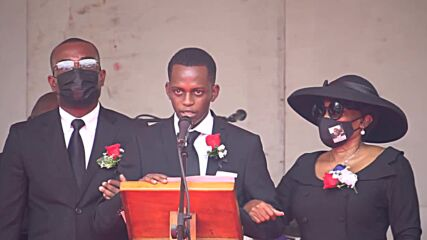 Haiti: Politicians and family members attend president Moise's funeral in Cap-Haitien