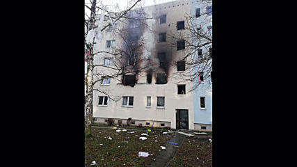 Germany: Building explosion kills one, injures 25 in Blankenburg *STILLS*