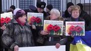 Ukraine: Protesters return to Russian embassy over Ukrainian pilot Savchenko