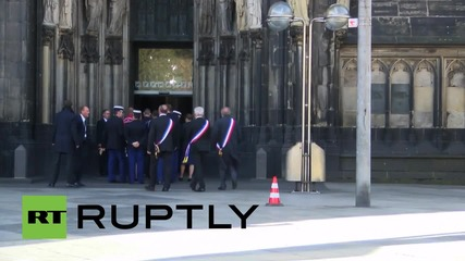 Germany: Dignitaries arrive for Germanwings memorial service in Cologne