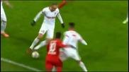 Дрибъл-бижу от Бербатов при голова атака в Шампионска лига