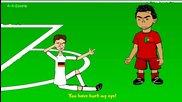 Германия и Португалия - Забавна футболна анимация.