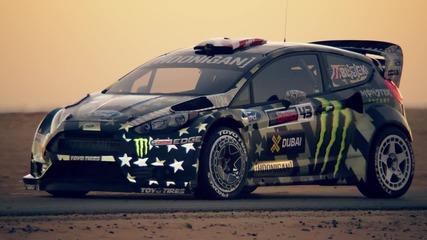 Ken Block отново пали гумите! Dubai