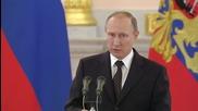 Путин заяви, че Русия още не е получила извинение от Турция за сваления самолет