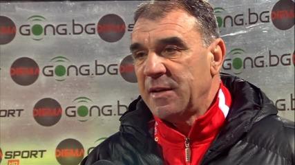 Сашо Борисов след равенството 0:0 между ЦСКА и Ботев