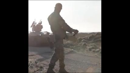 """Бъдещето на сухопътната война. Руски безпилотен боен робот Ucgv """"soratnik"""" тестван в Сирия"""