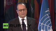 """France: """"We need to refuse hate and choose life"""" says Hollande at UNESCO"""