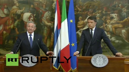 Italy: Castro calls on US Congress to answer Obama's call