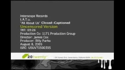 Tatu - All About Us (uncensored Version)