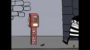 Как се краде пари от телефонна кабинка