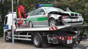 Germany: Three police cars destroyed ahead of German Unity march in Dresden