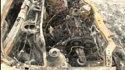 Таксиметрова кола изгоря в Русе