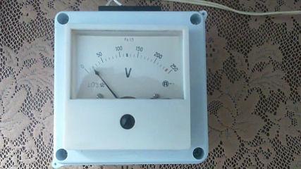 Измерване на изходното напрежение в радиовъзел с. Садовец