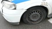 Кадри от задържането на сериен автокрадец след опасна гонка в София