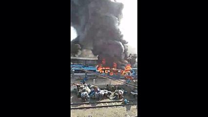 Nigeria: Cloud of smoke fills sky as bus terminal set on fire in Lagos