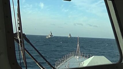 At Sea: Russia and China hold joint naval drills in Sea of Japan