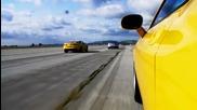 V-8 Pony Car Drag Race! 2011 Mustang Gt vs 2010 Camaro Ss vs 2010 Dodge Challeng