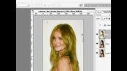 Photoshop уроци - Смяна на цвета на косата