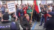 Видео от протестите в Хасково
