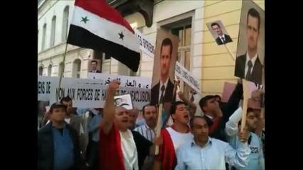 Шествието на сирийците в Брюксел на 04.06.2011г.