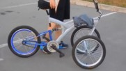 Comparison of a new simple hinge less tilting trike and complicated multi link tilting trike/quad