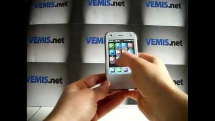 N1 Mini iphone Wifi Бг меню Tv 2sim 2сим 2gb две Камери с две Светкавици реплика от www.vemis.net