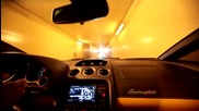 lamborghini gallardo ускорява в тунел