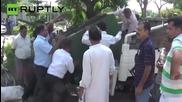 Huge Leopard Runs Amok in Indian Town