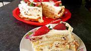 Сочна и вкусна козуначена торта