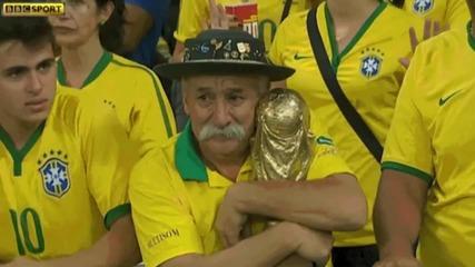 Този дядо очакваше много от отбора на Бразилия, но остана разочарован # Респект към феновете на тима