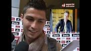 Мишел Тело се отблагодарява на Кристиано Роналдо