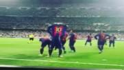 Голът на Лионел Меси срещу Реал Мадрид заснет от различни фенове