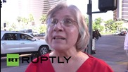 USA: Sanders & Clinton supporters rally ahead of Democratic debate