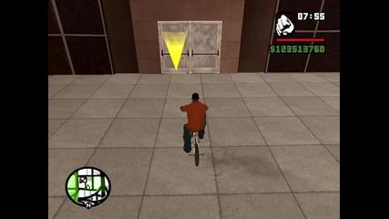 Gta San Andreas бъг с колело част 1
