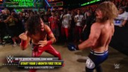 AJ Styles faceplants at ringside after Nakamura's nasty kick: WWE Money in the Bank 2018 (WWE Network Exclusive)