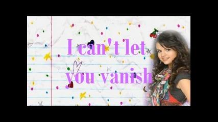 Selena Gomez Disappear with lyrics