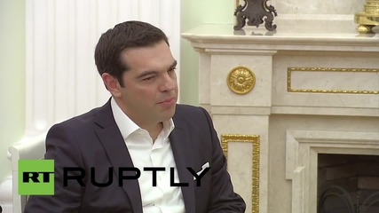 Russia: Putin meets Greek PM Tsipras to discuss economic relations
