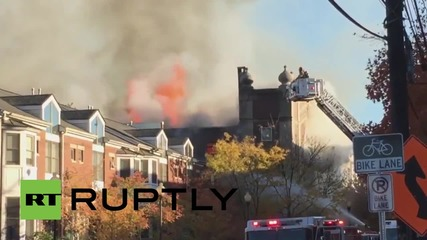 USA: Huge fire burns through historic synagogue in New Jersey